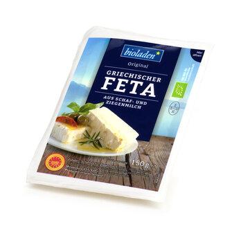 b*griechischer Feta, vakuum   Feta aus Schaf- u. Ziegenmilch