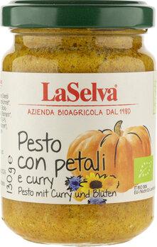 Pesto mit Curry und Blüten - Kürbis Würzpaste