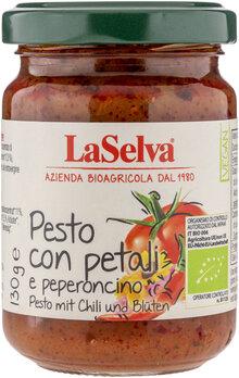 Pesto mit Chili und Blüten - Tomaten Würzpaste