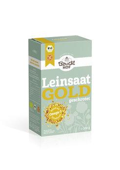 Gold-Leinsaat geschrotet glutenfrei Bio