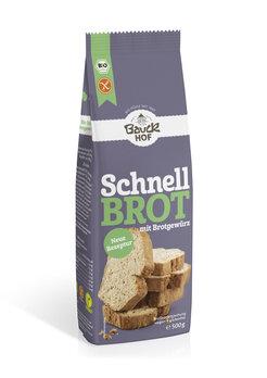 Schnellbrot mit Brotgewürz glutenfrei Bio