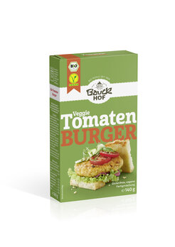 Tomatenburger mit Basilikum glutenfrei Bio